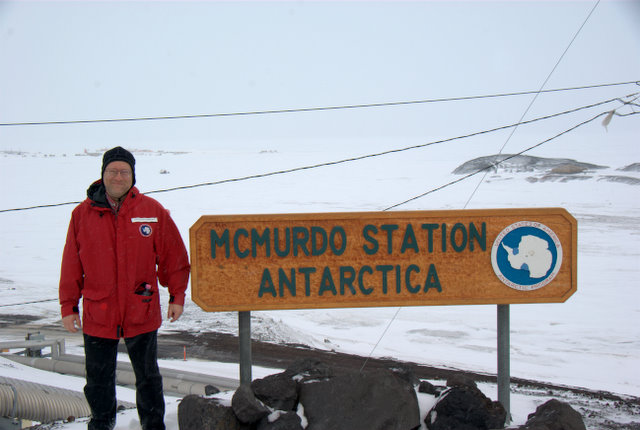 Picture of me by McMurdo Station Sign
